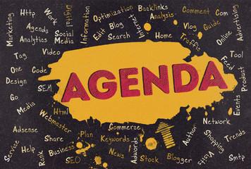 Agenda, Word Cloud, Blog