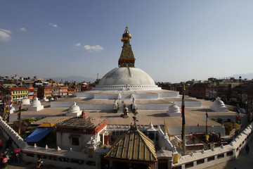 Boudhanath stupa in Kathmandu after the earthquake