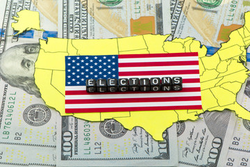 Elections in the United States against the backdrop of America