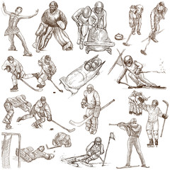 Winter Sports - An hand drawn collection