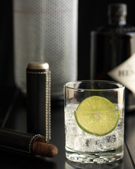 Gin and tonic with Cigar