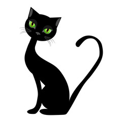Cat Silhouette Icon Symbol Design. Vector illustration isolated
