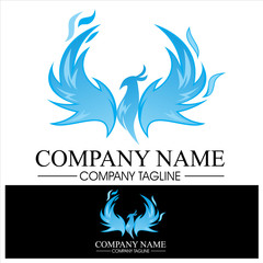 Phoenix Flame Logo - Blue Version