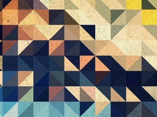 Blue, yellow , brown and black triangle abstract background illustration