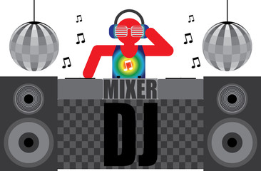 The DJ in the mix