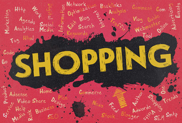 Shopping, Word Cloud, Blog