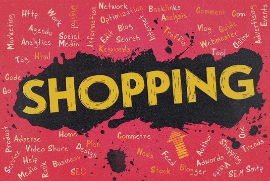 Shopping, Word Cloud, Blog