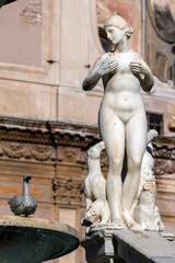 """Pretoria fountain in Palermo, Sicily designed in 1552-55 by Francesco Camilliani was known as """"the fountain of shame"""" because of the nude statues."""