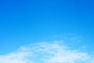 beautiful soft white cloud on blue sky