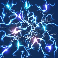 Thunder bolts dark vector background
