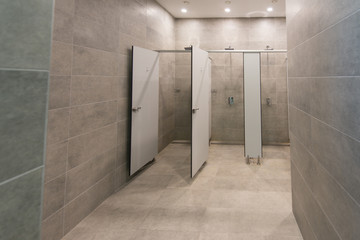 Interior Of A Shower Room