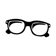 glasses pictogram icon image vector illustration design