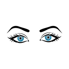 woman eyes icon image vector illustration design