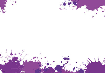 White background with purple blotches.Vector illustration