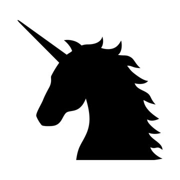 Unicorn - legendary mythical creature flat icon for apps and websites