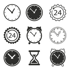 Clock icon set.