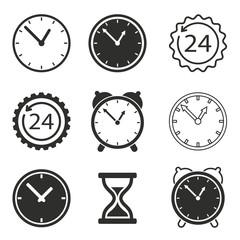 Clock icon set.