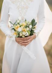 bridal bouquet in hands