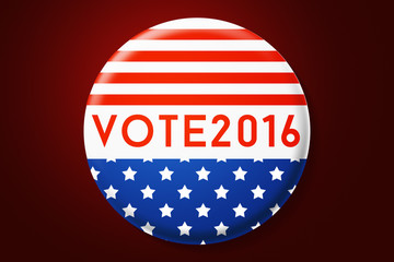 USA Presidential Elections in America Vote 2016 Button