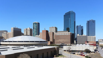 A view of the skyline of Fort Worth, Texas.