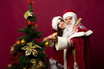 Santa and girl dance