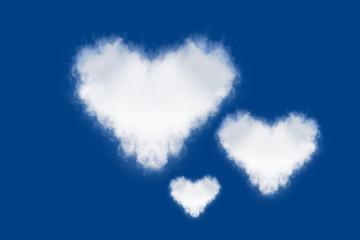 heart cloud in the blue sky.