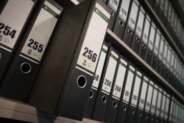 folder in filing cabinet