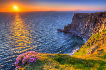 Printed roller blinds Sea Cliffs of Moher at sunset in Co. Clare, Ireland