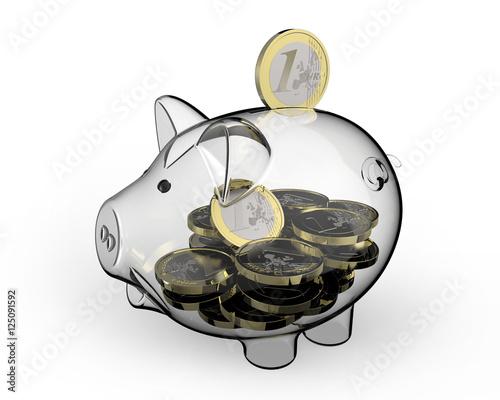 sparschwein aus glas stockfotos und lizenzfreie bilder auf bild 125091592. Black Bedroom Furniture Sets. Home Design Ideas