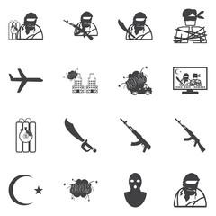 Hijacker Terrorist Airplane car bomb,vector Icon Clipart