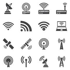 Vector  wireless icons set