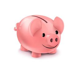 Piggy bank. Piggybank isolated on white background.