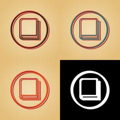 ikona w stylu retro