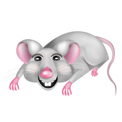 Mouse cartoon. Vector illustration of a mouse