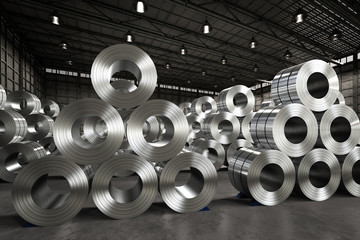 roll of steel sheet in factory Wall mural