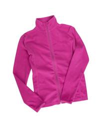 Female fleece jacket isolated on white.