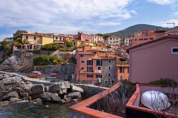 Ancient village of Tellaro near Lerici, La Spezia in the Gulf of poets, Italy