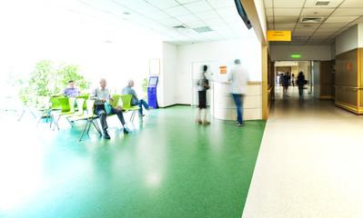 Hospital corridor reception