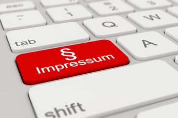 Tastatur - Impressum - rot