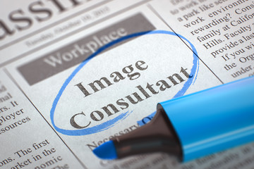 Now Hiring Image Consultant. 3D.