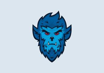 Werewolf Halloween Vector Illustration
