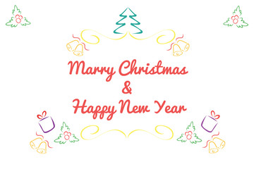 Christmas card concept by Have many color and white background