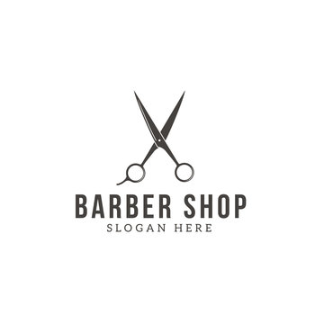 Barber shop logo icon
