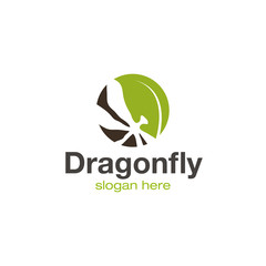 Dragonfly logo design vector