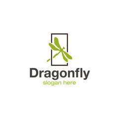Dragonfly logo design vector