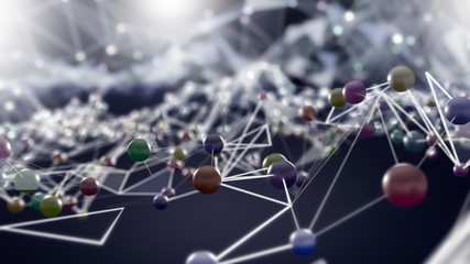 Social media connection, futuristic communication technology concept