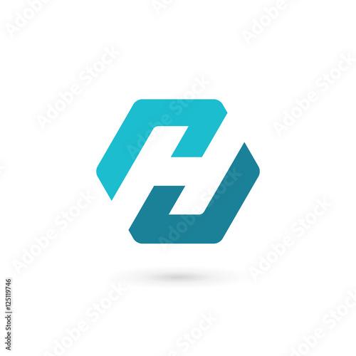 ed959e4e6910 Letter H logo icon design template elements