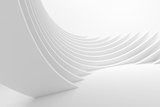White Architecture Circular Background