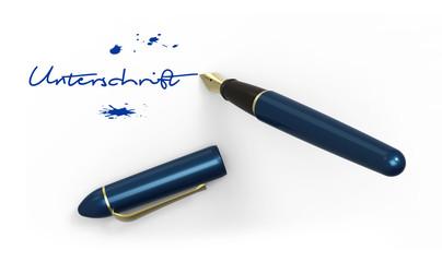 Füller mit Unterschrift