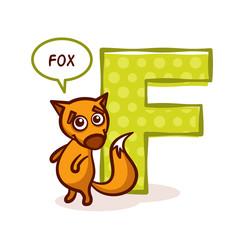 ABC ZOO Alphabet Letter F Fox